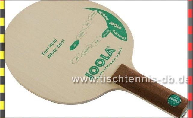 Tischtennisschläger Toni Hold von JOOLA, Griff gerade,